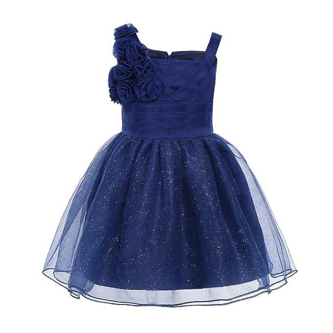 iEFiEL Vestido de Princesa Boda Fiesta para Bebé Niña Vestido de Bautizo con Flores para Recién