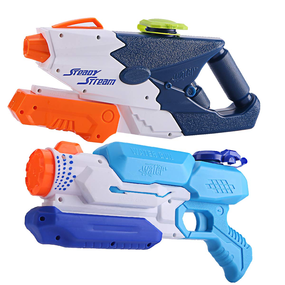 JCSHHUB Super Water Gun Blaster Soaker Shooter Squirt Set Summer Outdoor Swimming Pool Beach Sand Toy Game for Kids Adult (2 Pack)