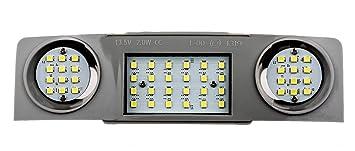 Innenbeleuchtung VW+Skoda+Seat 15 LED SMD Fondbeleuchtung Hinten weiß Tuning NEU