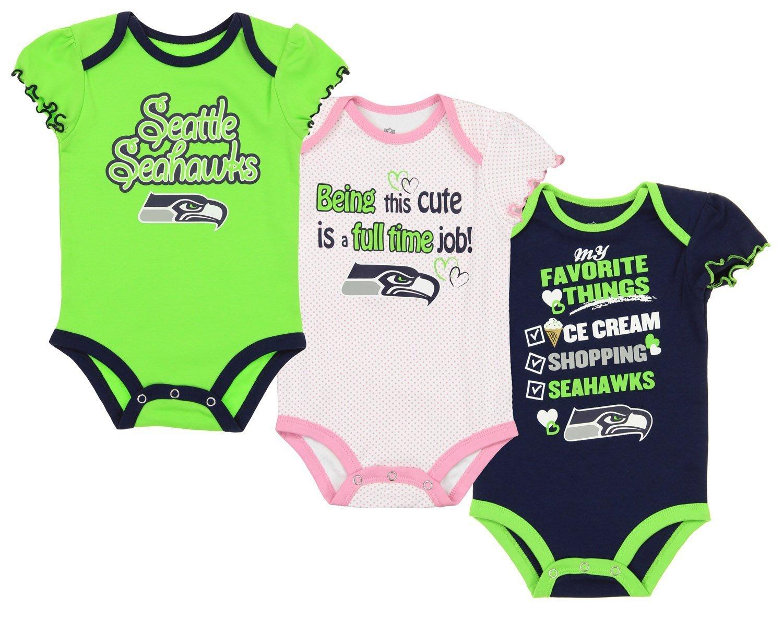 【特別訳あり特価】 シアトルシーホークスNFL Infant Girls 3 Piece Creeperボディスーツセット 3、ネイビー/グリーン Girls Piece/ホワイト B071GVKW5V 18 Months, KN-OnlyOne:93f14fbe --- svecha37.ru