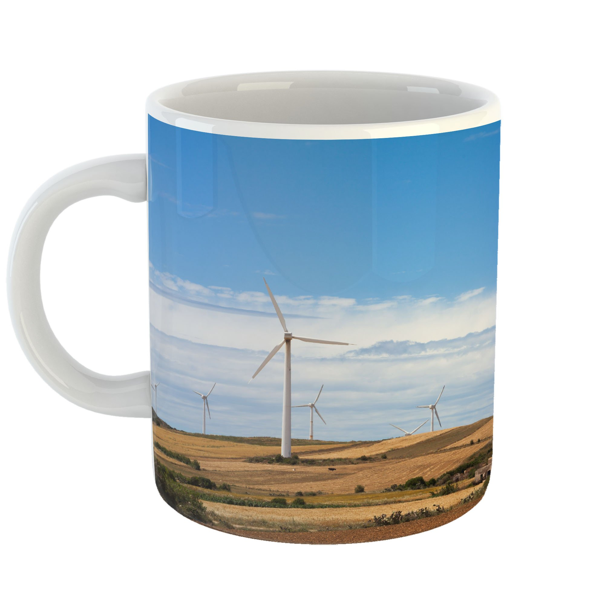 Westlake Art - Wind Solar - 11oz Coffee Cup Mug - Modern Picture Photography Artwork Home Office Birthday Gift - 11 Ounce (2BE0-3231D)