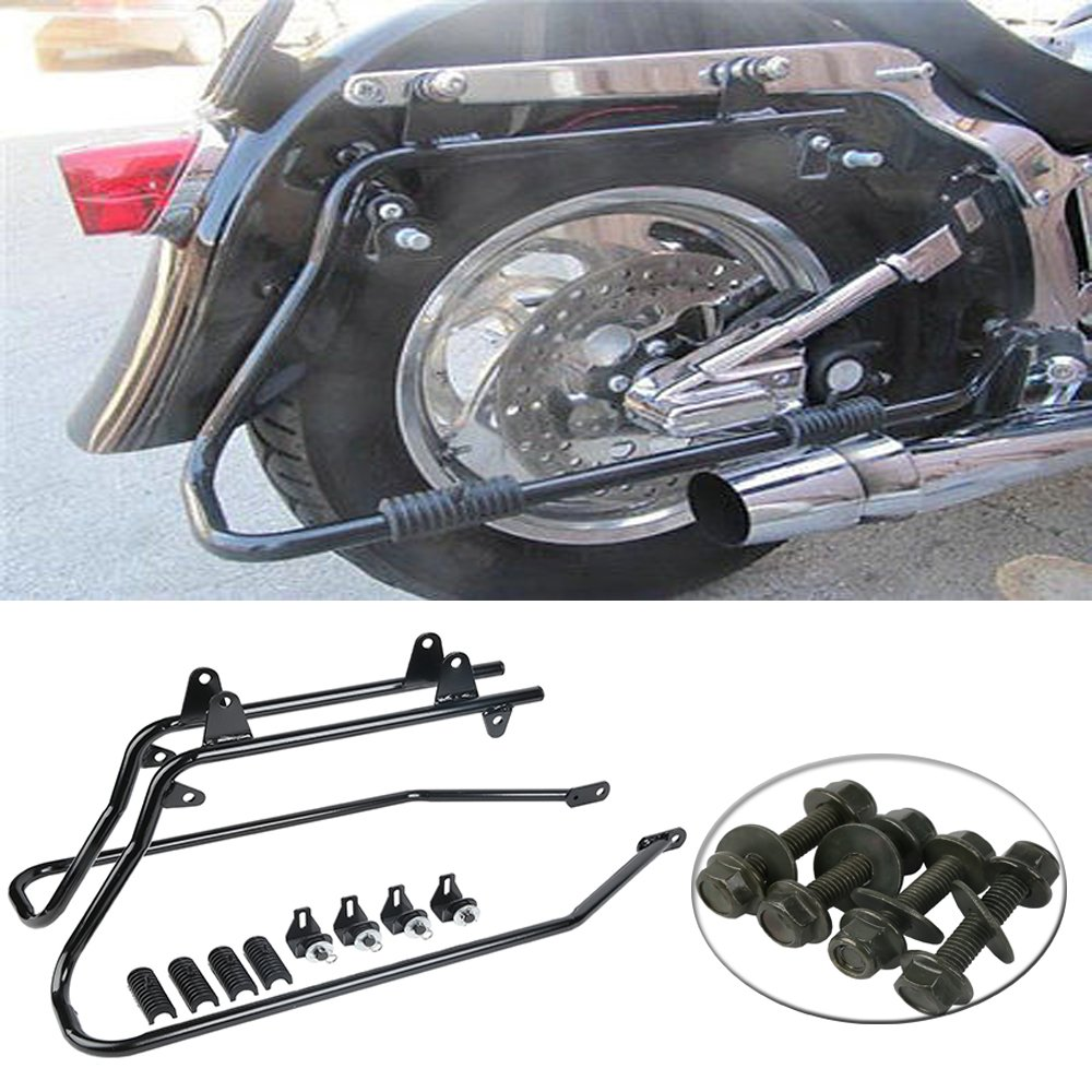 Saddlebags Saddle Bags /& Conversion Brackets For Harley Softail Deluxe 1986-2013