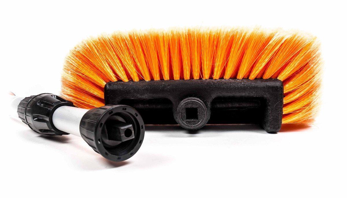 Autowaschbürste alu teleskop waschbürste mit wasseranschluss für