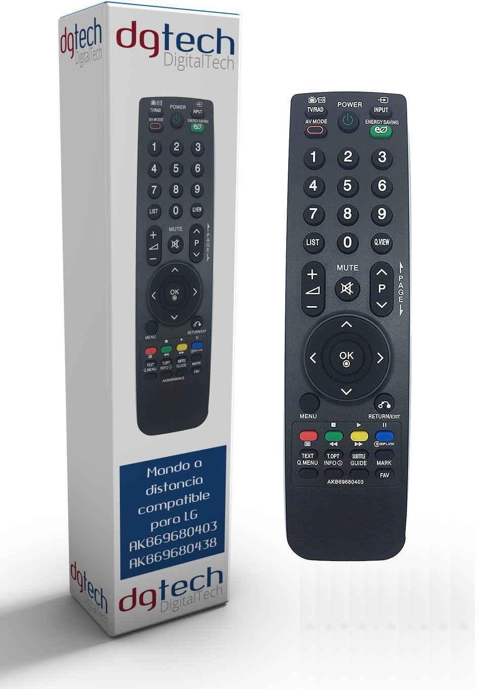 DigitalTech® - Mando de sustitución para televisores Compatible LG AKB69680403 AKB69680438: Amazon.es: Electrónica