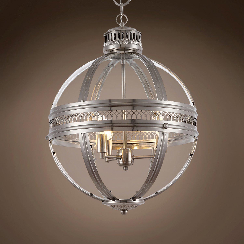 Victorian Hotel 3 Light 18'' Satin Nickel Pendant Hanging Ceiling Light 701653-002