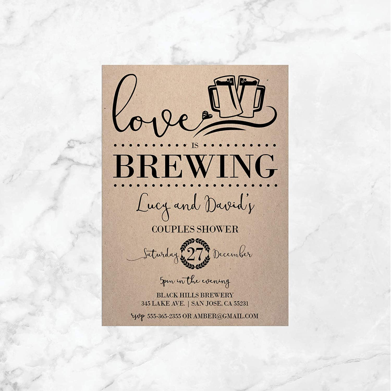 Amazon Com Love Is Brewing Shower Invitations Couples Shower