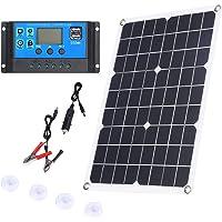 Tamkyo 100W Solar Panel 12V Battery Charger Kit 50A Controller for Caravan Van Boat Dual USB