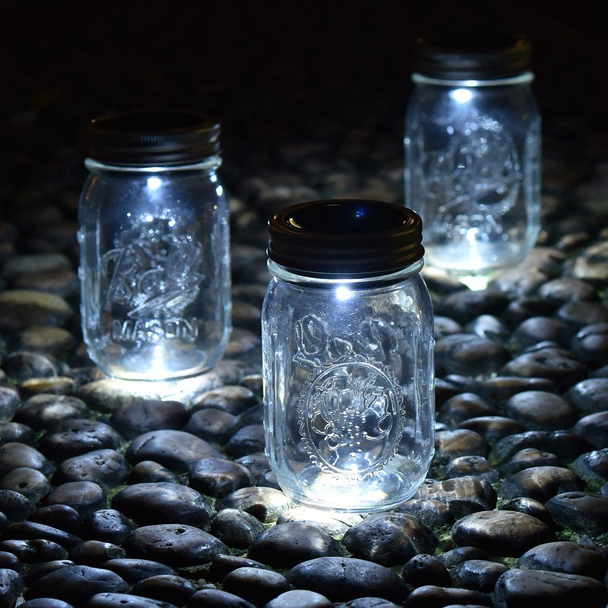 Amazon.com : Mason Jar Lights, [3 Pack - Solar Mason Jar Lid Insert ...