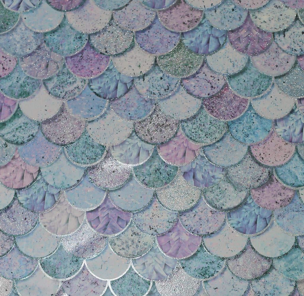 Mermazing Waage Glitzer Meerjungfrau Waage Blau T/ürkis Meerjungfrau Thema Tapete 698305