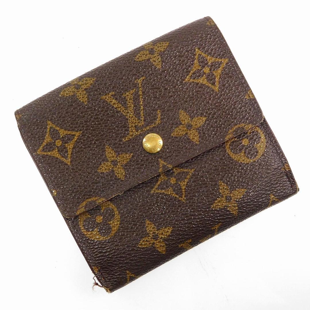 [ルイヴィトン] LOUIS VUITTON 二つ折り財布 モノグラム M61652 モノグラムキャンバス X17022 中古   B07BHKKBZ8