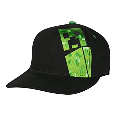 67abef41ca4 Image Unavailable. Image not available for. Color  JINX Minecraft Creepin Snapback  Baseball Hat ...
