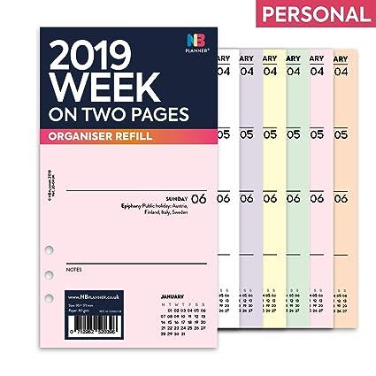 NBplanner® 2019 - Planificador semanal de dos páginas ...
