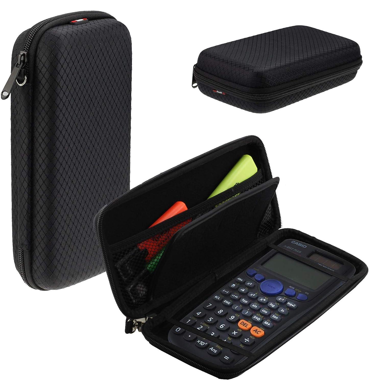 Navitech Schwarz Schock Sicher Eva Calculatrice Grafische/Taschenrechner Schutztasche/Abdeckung / Fall/Gehäuse für Casio FX-CG50-S-UH
