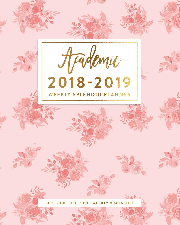 2018-2019 Planner: Vintage Blush Pink Floral Weekly Academic ...