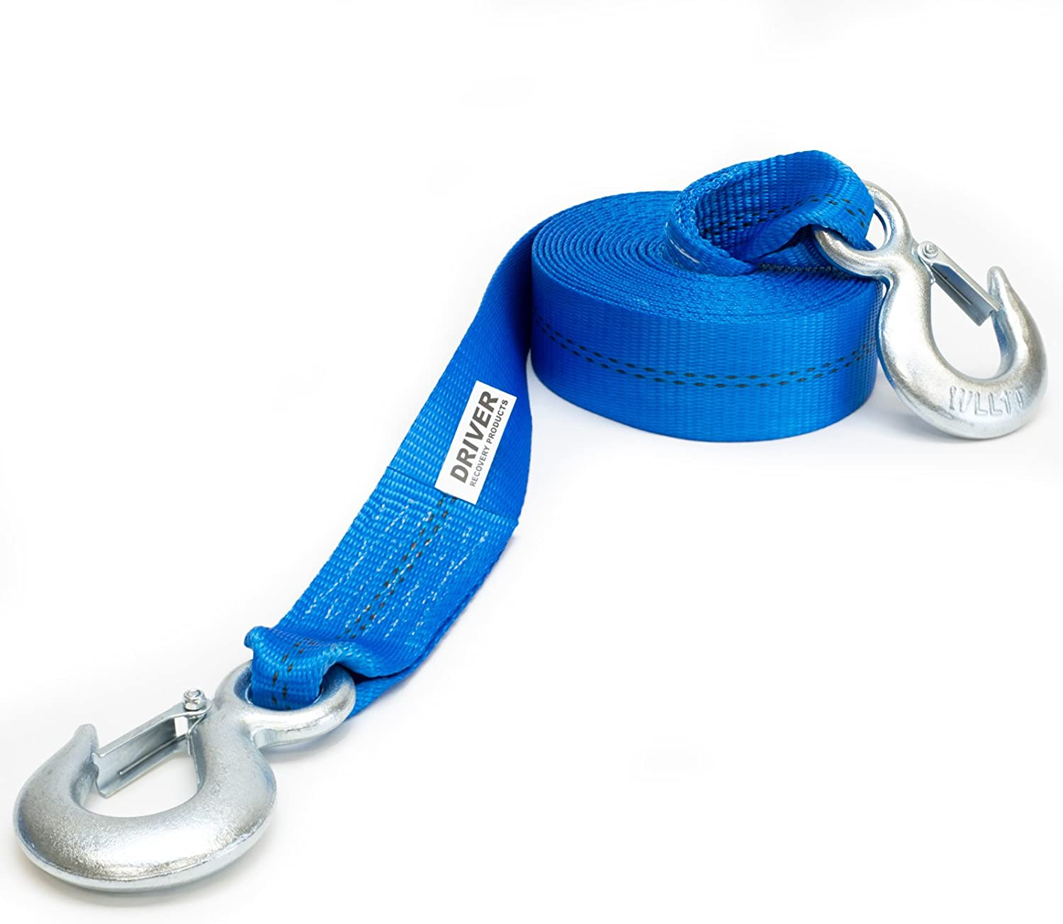 Driver Recovery 2 x 20/Heavy Duty Tow Strap with Safety Hooks 10,000 Pound Pulling Power for Emergency Recovery Winch Towing