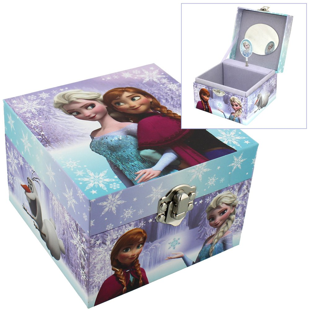 Children's Disney Frozen Elsa & Anna Themed Musical Jewellery Box 756970115144