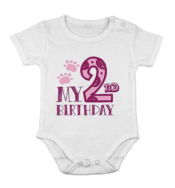 Mi Segundo cumpleaños bebé recién Nacida Body algodón niña ...