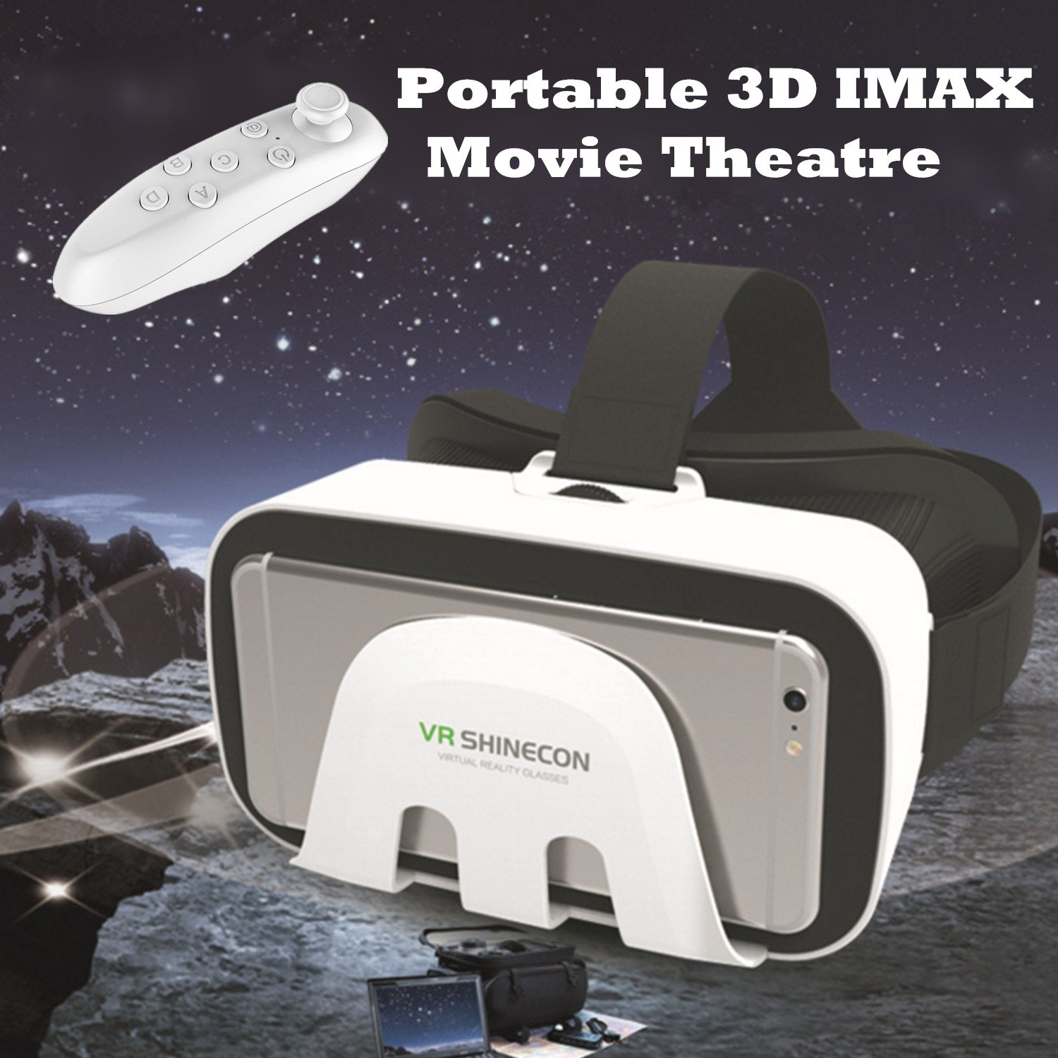VR Headset, Tsanglight Virtual Reality Glasses Game/Video 3D VR Headset with Remote Controller for IOS iPhone 7/6S Plus, Android Samsung S7 Edge/S7 etc Sony LG HTC and Other 4.7-6.0inch Smart Phones