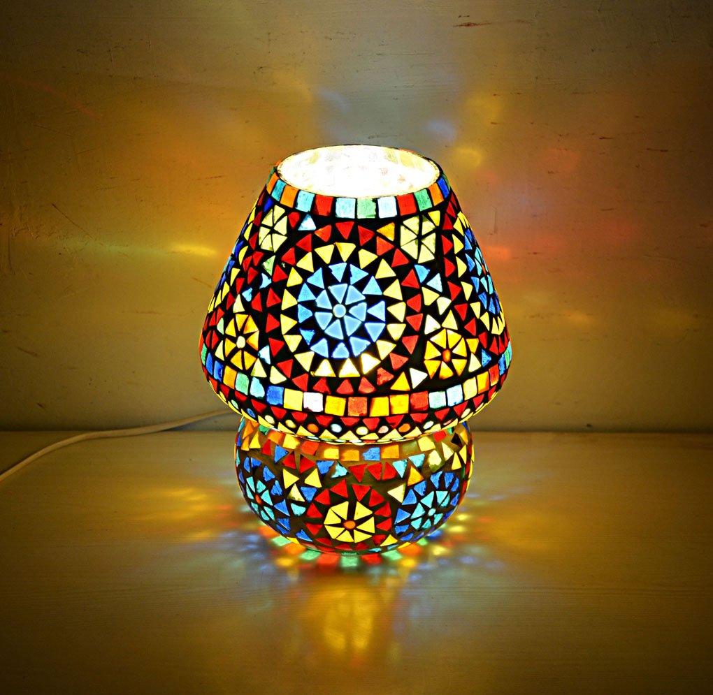 Hare Krishna Moroccan Table Light Decoration Glass Hanging Desk