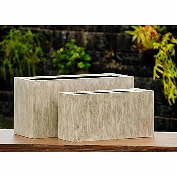 OUTLIV. Pflanzgefäß Kunststoff 2er Pflanzkübel Set rechteckig ...