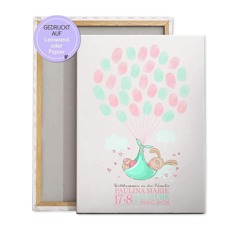 Gästebuch im Rahmen Hochzeit Geburtstag Taufe mit Herzen zum Beschriften