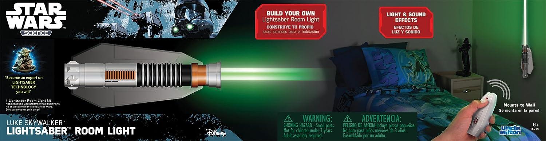 Uncle Milton Star Wars Science Lightsaber Room Light Luke Skywalker