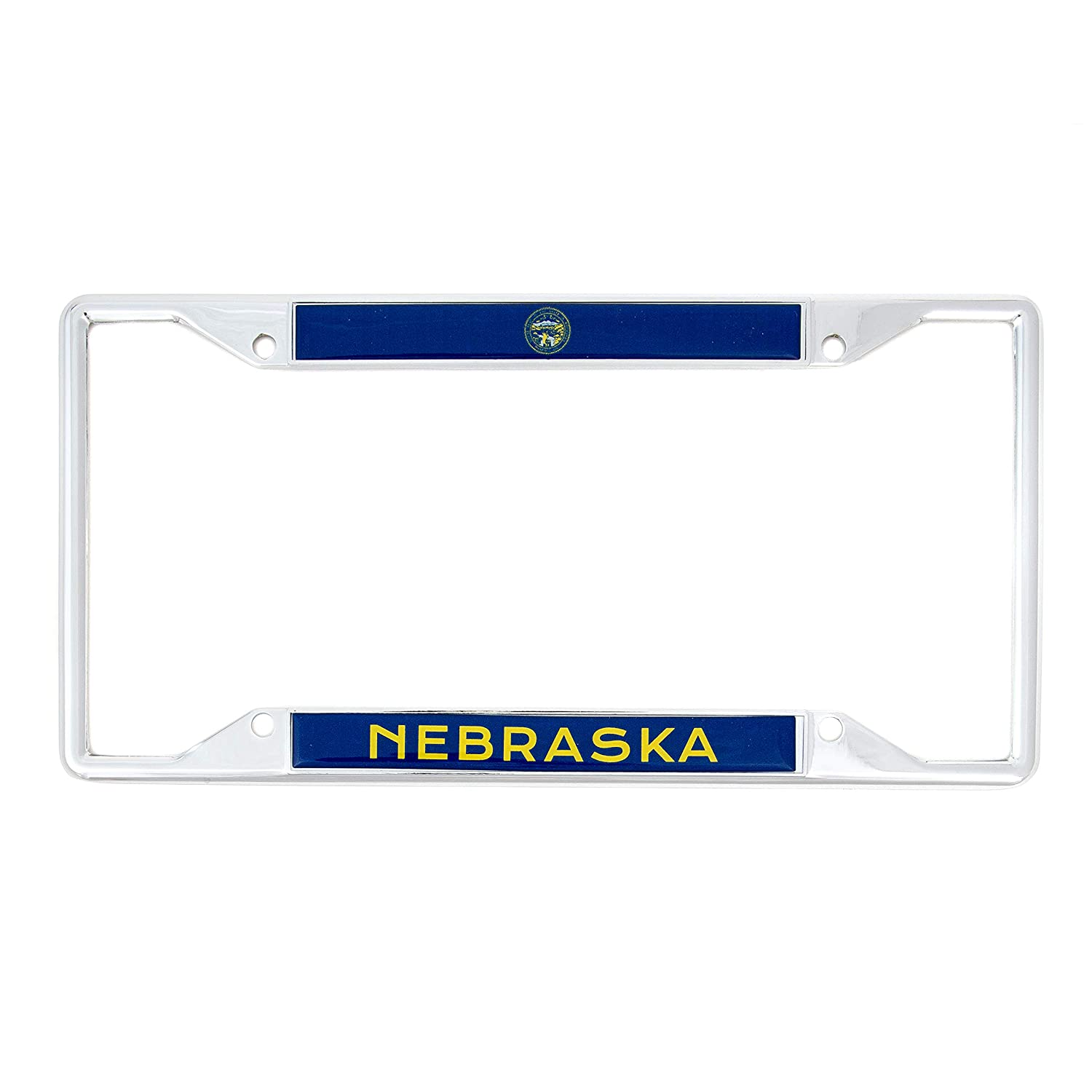 Desert Cactus State of Nebraska Flag License Plate Frame for Front Back of Car Vehicle Truck