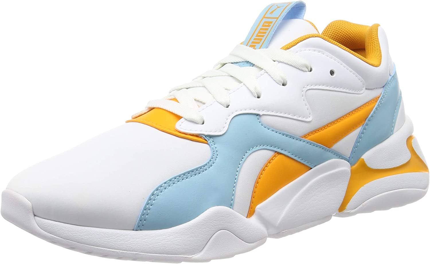 Amazon.com | PUMA Women's Low-Top Trainers, White Milky Blue ...