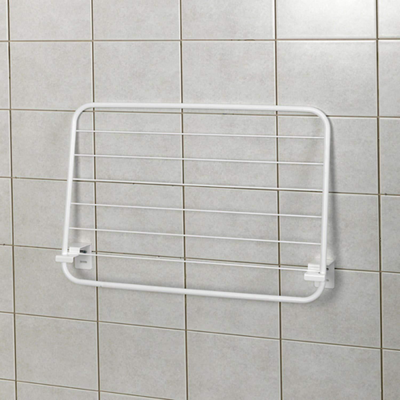 Rivestimento PVC Bianco Erica Stendibiancheria a Parete BEDA 125x50cm Design Robusto Che ne Dimostra la qualit/à Supporti Metallici