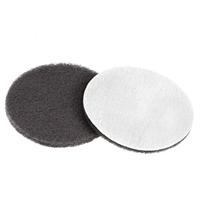 uxcell 5 Inch 1500 Grit Drill Power Brush Tile Scrubber Scouring Pads Cleaning Tool 2pcs: Home Improvement