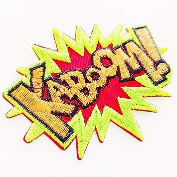 bc6ddbb4319 Amazon.com  Kaboom! Superhero Comics Comix Retro Fun Embroidered ...