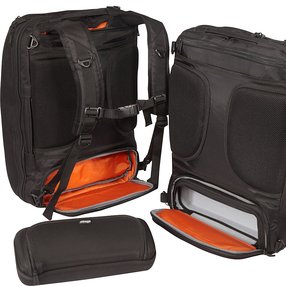 eBags Professional Weekender Carry-On Backpack Fits 18'' Laptop for Travel & Business - TSA Friendly - (Black) by eBags (Image #2)
