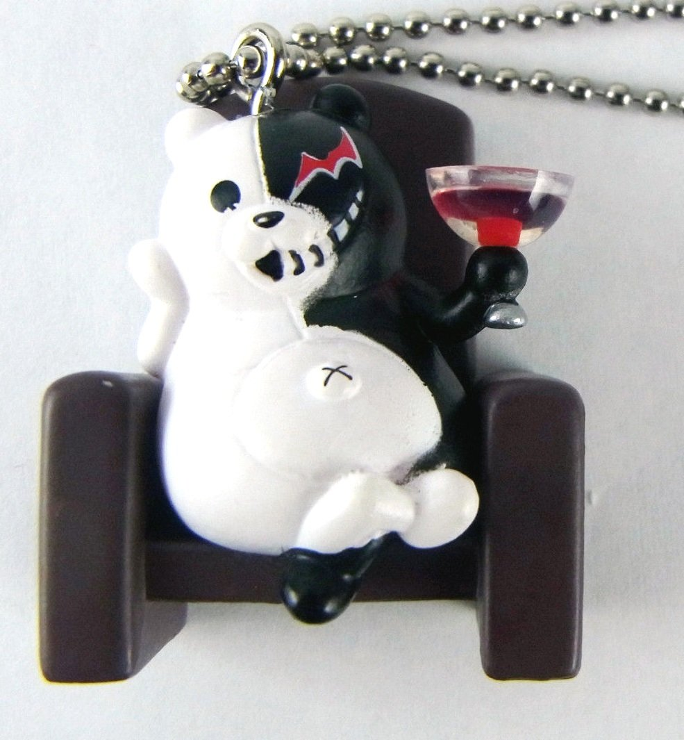 Takara Tomy DANGAN RONPA Keychain Animation deformed mini side B 1.5 Monokuma Monobear
