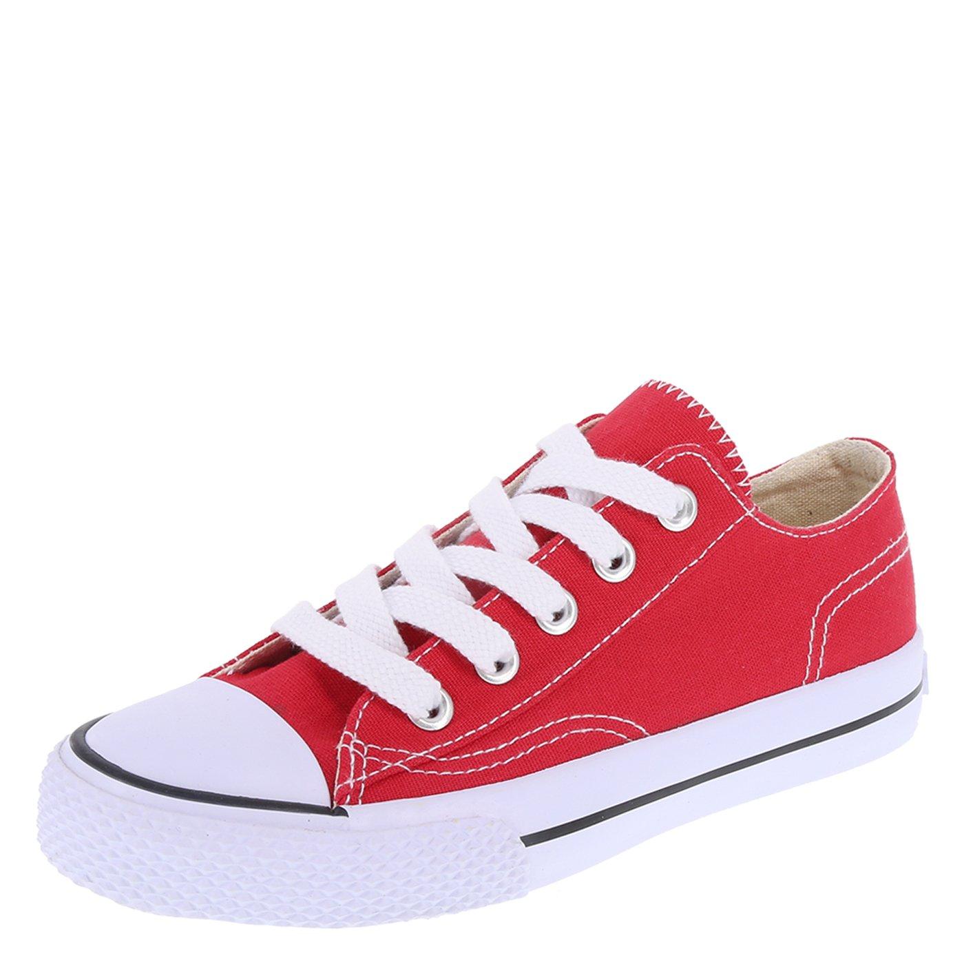 Airwalk Red Canvas Kids' Legacee Sneaker 4 Regular