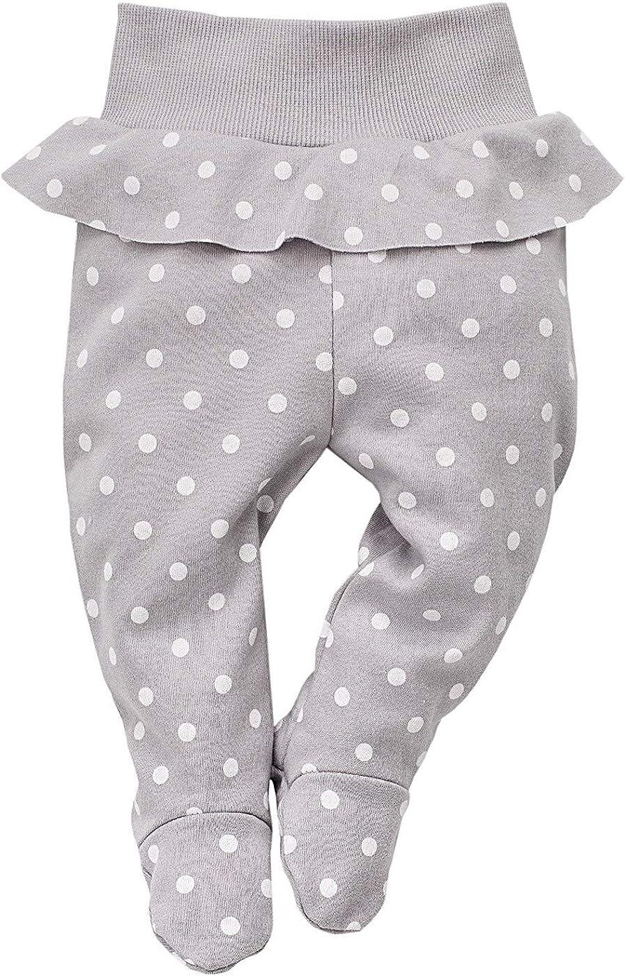 Baby Neugeborene Hose Baumwolle Einhorn Kollektion Pinokio elastischer Bund mit F/ü/ßchen rosa mit Sternen oder grau gepunktet; Bedruckt M/ädchen Jogginghose Leggings Schlafhose