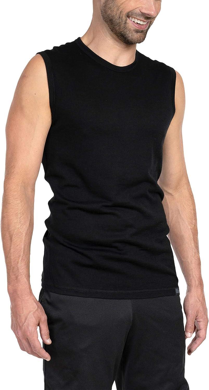 Woolly Clothing Men's Merino Wool Tank Top - Ultralight - Wicking Breathable Anti-Odor