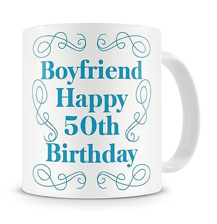 Boyfriend Happy 50th Birthday Mug Gift Present For