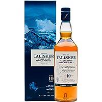 Talisker 10 Jahre Single Malt Scotch Whisky – Weicher, torfiger und rauchiger Whisky aus dem Norden Schottlands – In maritimer Geschenkbox – 1 x 0,7l