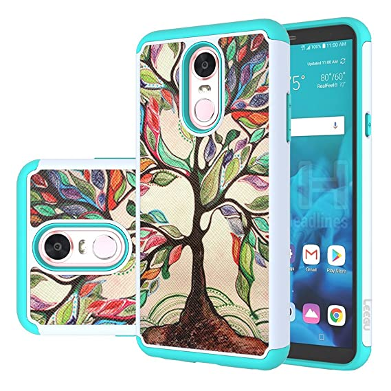 cheaper afc23 5a196 LG Stylo 4 Case, LG Q Stylus Case, LG Stylo 4 Plus Case, LEEGU [Shock  Absorption] Dual Layer Heavy Duty Protective Silicone Plastic Cover Rugged  Phone ...
