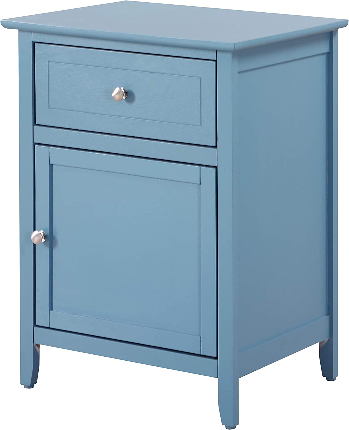 Glory Furniture 1 Drawer /1 Door Nightstand, Teal