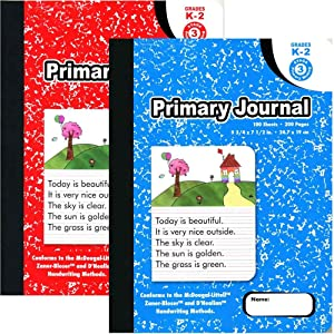 "Omura PRIMARY JOURNAL Composition Book, 9 3/4"" x 7 1/2"", Wide Ruled, 100ct Marble (Pack 24)"