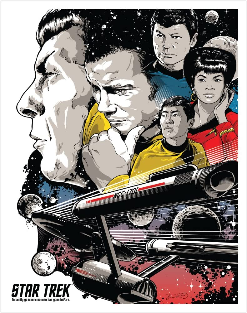 Culturenik Star Trek to Boldly Go Group Cast (Joshua Budich) Sci-Fi TV Television Show Print (Unframed 11x14 Poster)