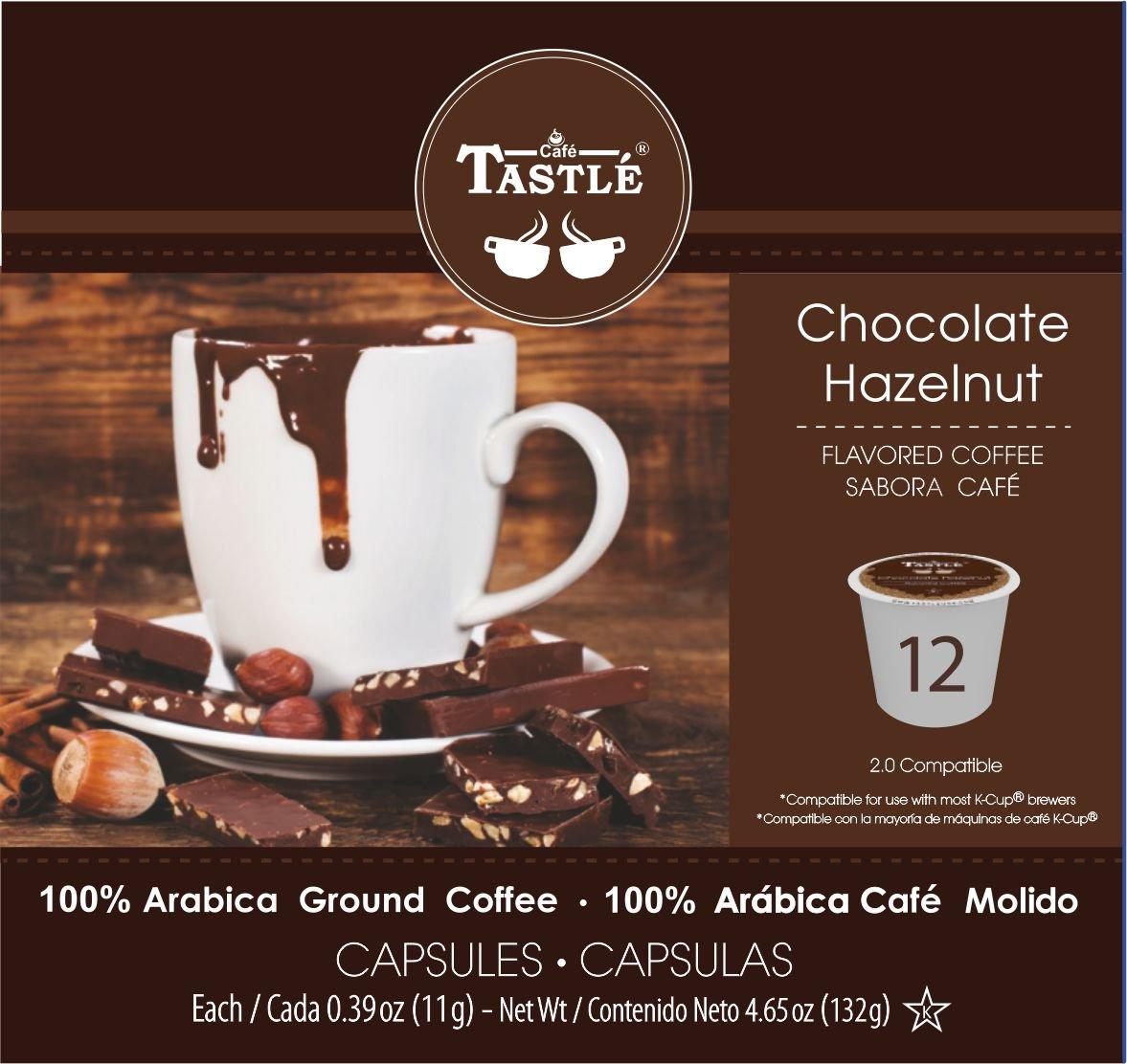 Amazon.com : Cafe Tastlé Chocolate Hazelnut Single Serve Coffee, 24 Count : Grocery & Gourmet Food
