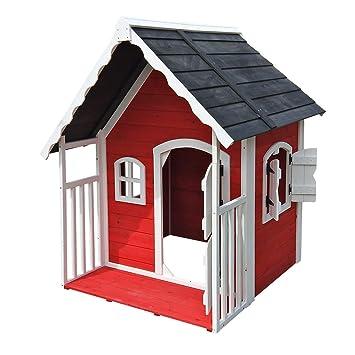 Spielhaus Villa für Kinder Holz Veranda Kinderspielhaus Gartenhaus ...