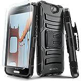 Evocel HTC One A9 Case [Generation Series] Rugged Holster [Kickstand & Belt Swivel Clip] + HD Screen Protector For HTC One A9 / HTC Aero, Black (EVO-HTCA9-AB201)