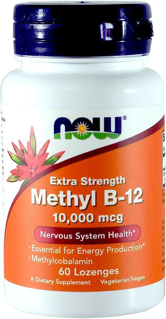 NOW Foods Methyl B-12, 10,000 MCG, 60 LO…