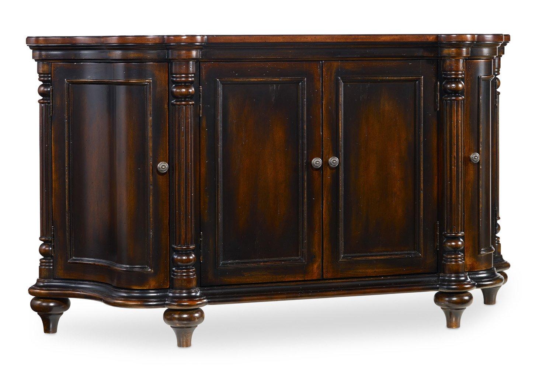 Dark Cherry Wood Credenza : Amazon hooker furniture eastridge door shaped credenza in