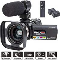 Yeehao WiFi Full HD 1080p 24MP 16X Digital Zoom Camcorder with Microphone