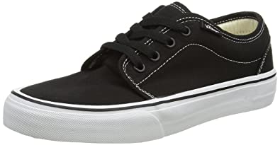 22761639b8 Vans 106 Vulcanized Black White Men s Classic Skate Shoes Size 12
