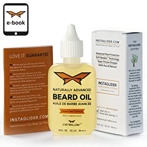 SALE!! Premium Quality 100% Natural Beard Oil and Conditioner By Instaglider. Advanced Ultra-Rich Formula With Royal Frankincenseª & Nigella Sativa Softens, Relaxes & Promotes Healthier Beard Growth (35ml Bottle) Ð Bonus E-Book Included.